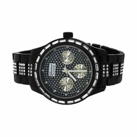 Icey Baguettes Black Bling Bling Watch
