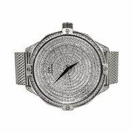 Icey Dial Bling Bling Silver Mesh Band Watch