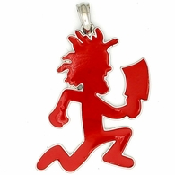 ICP Hatchet Man Red Enamel Silver Pendant & Free Chain Officially Licensed