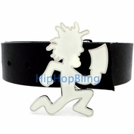 ICP Insane Clown Posse White Enamel Hatchet Man Belt Buckle