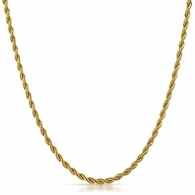 IP Gold 2MM Rope Chain Stainless Steel