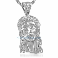Jesus Iced Out Pendant Detailed Piece
