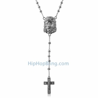 Jesus Piece Hip Hop Rosary Necklace