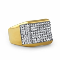 King Gold Stainless Steel Bling Bling Ring