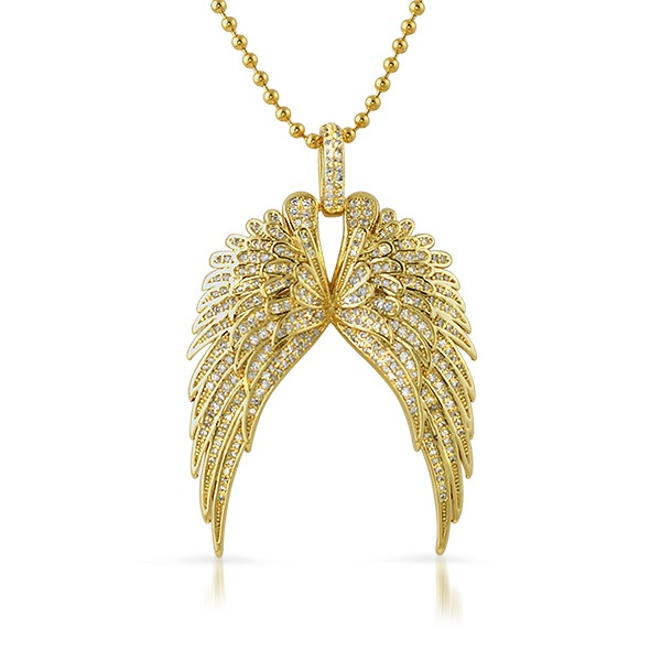 Large guardian wings gold bling bling pendant discontinued bling 30 mozeypictures Gallery
