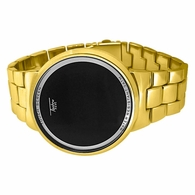LED Touch Screen Gold Metal Band Watch