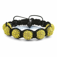 Lemonade 12mm 7 Disco Ball Hip Hop Bracelet