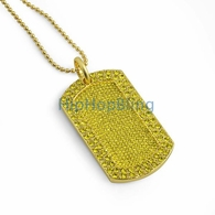 Lemonade Bling Bling Dog Tag & Chain