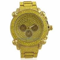 Lemonade Chrono Custom Bling Bling Watch