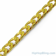Lemonade Iced Out Canary Bling Cuban Bracelet