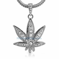 Marijuana Leaf Chronic Hip Hop Pendant & Chain Small