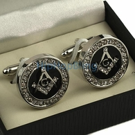 Masonic Bling Bling Cuff Links
