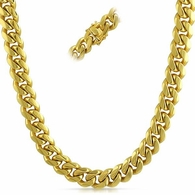 Miami Cuban 3X IP Gold Stainless Steel Chain 12MM