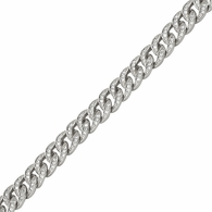 Miami Cuban CZ 8MM Rhodium iced Out Chain