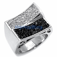 Micro Pave CZ Rings - .925 Sterling Silver