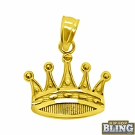 Mini Crown Detailed Pendant 10K Yellow Gold