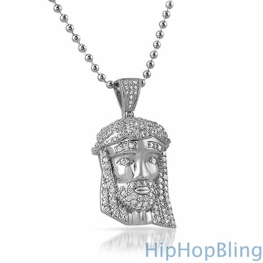 Mini Jesus Piece Pendant .925 Sterling Silver