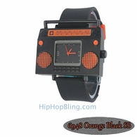 Orange Boombox Urban Hip Hop Watch