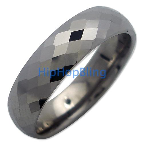 Pineapple Cut Comfort Fit Tungsten Carbide Ring #7