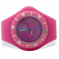 Pink Jelly Watch with Rotating Bezel