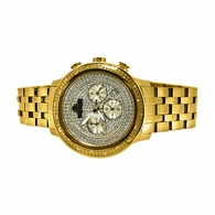 Prince IceTime Watch .15cttw Diamond IP Gold