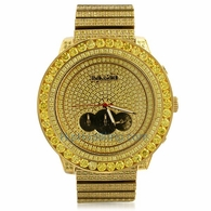 RC&Co Lemonade CZ Big Bezel Hip Hop Watch
