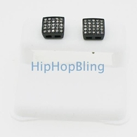 Real Diamond .50ct on Black Box 316L Hip Hop Earrings