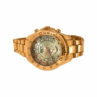 Real Diamond Rose Gold Yacht Hip Hop Watch