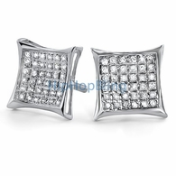.925 Silver Diamond Earrings