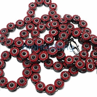 Red Black Center Cluster Bling Bling Chain
