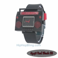 Red Boombox Urban Hip Hop Watch