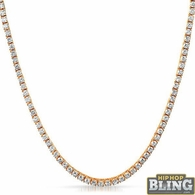Rose Gold 4MM CZ Bling Tennis Chain