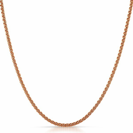 Rounded Box Chain Rose Gold Stainless Steel