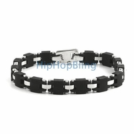 Rubber Block JoJino 316L Stainless Steel Bracelet