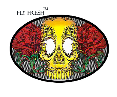 Skull and Roses Fly Fresh » Tattoo Belt Buckle TBU-11C