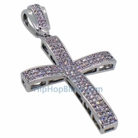 Small Baller CZ Micro Pave Bling Bling Cross