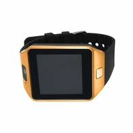 Smart Watch Rose Case Brown Band