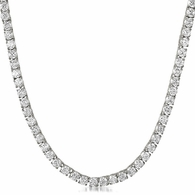 Stainless Steel 1 Row 4MM CZ Lab Made Chain