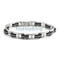 Stylish Rubber 316L Stainless Steel JoJino Bracelet