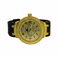 Super Techno Diamond Watch Sporty Rubber Band