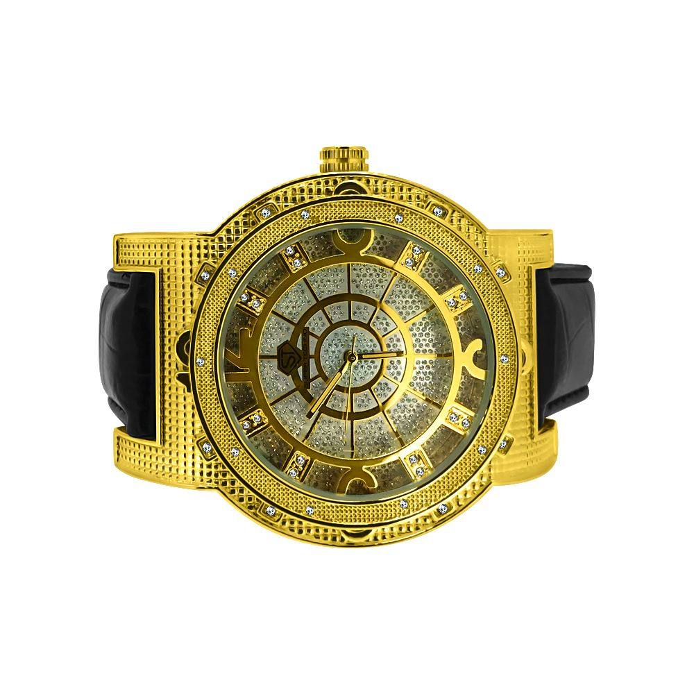 Super techno real diamond watches hip hop watches for Watches diamond