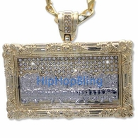 The Last Supper 2 Tone Gold Bling Pendant