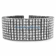 Totally Iced Out Rhodium 8 Row Bracelet