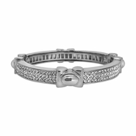 Triple Bling Silver Plated Bangle