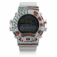 USA Flag Patriotic Custom Bling G Shock Watch