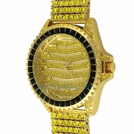 Wavy Lemonade Custom Watch & 6 Row Band