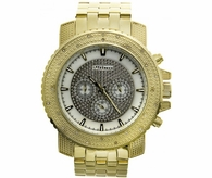 White Dial Gold .25 Carat Diamond Jojino Watch Bling