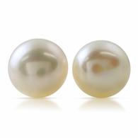 White Freshwater Pearl .925 Sterling Silver Stud Earrings