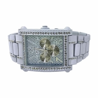 White Rectangle Bling Bling Watch