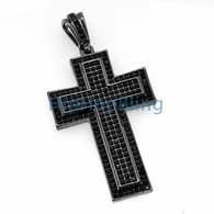 XL Black Princess Invisible Set Bling Bling Cross & Chain